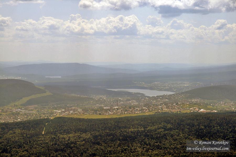 Таганай: Вид на город Златоуст
