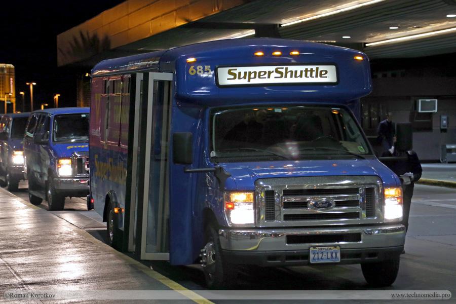 Маршрутки или shuttle bus из/в аэропорт Лас-Вегаса и другие аэропорты США