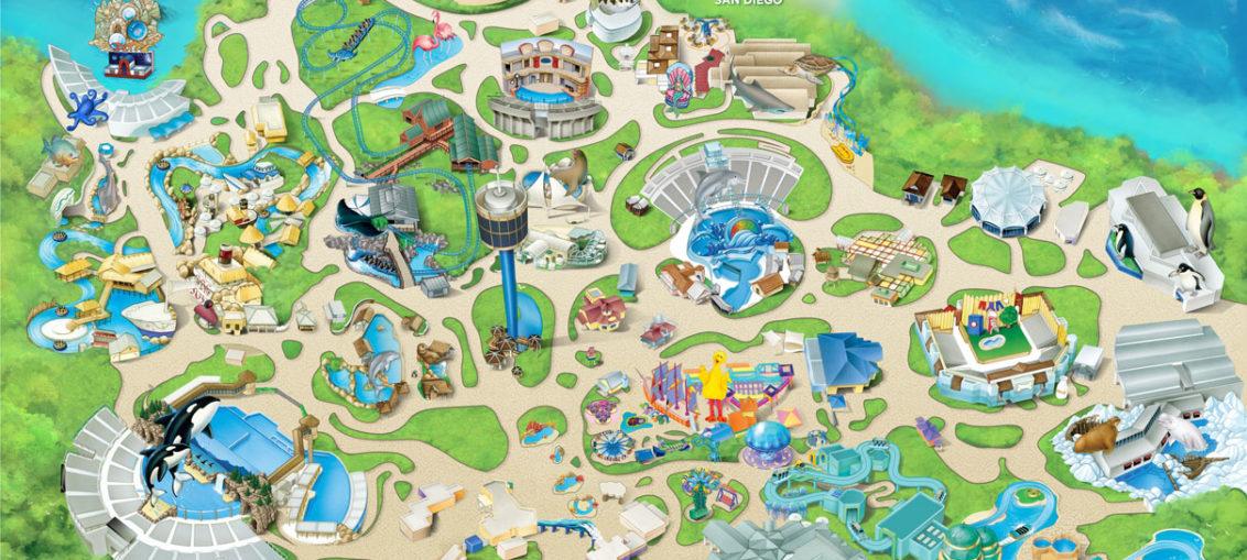 Карта SeaWorld San-Diego